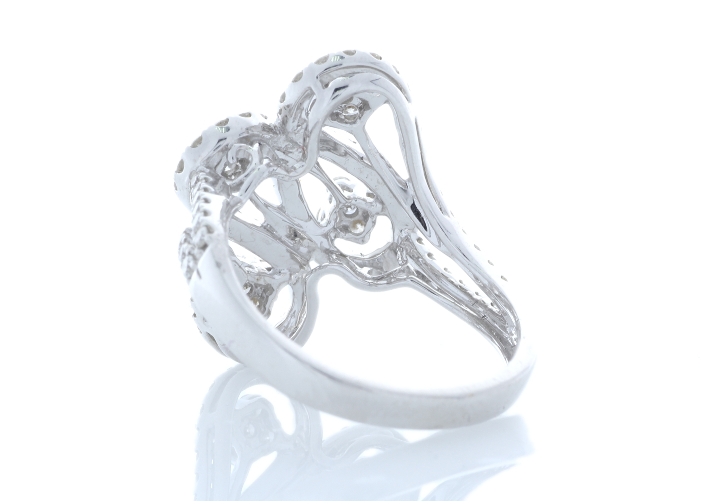 Lot 34 - 18ct White Gold Fancy Cluster Diamond Ring 1.15 Carats