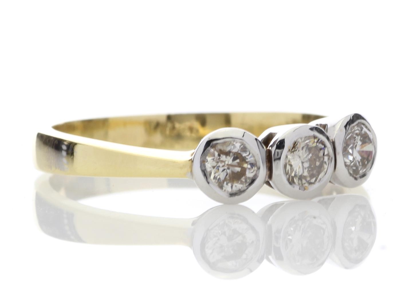 Lot 4 - 18ct Three Stone Claw Set Diamond Ring 0.75 Carats