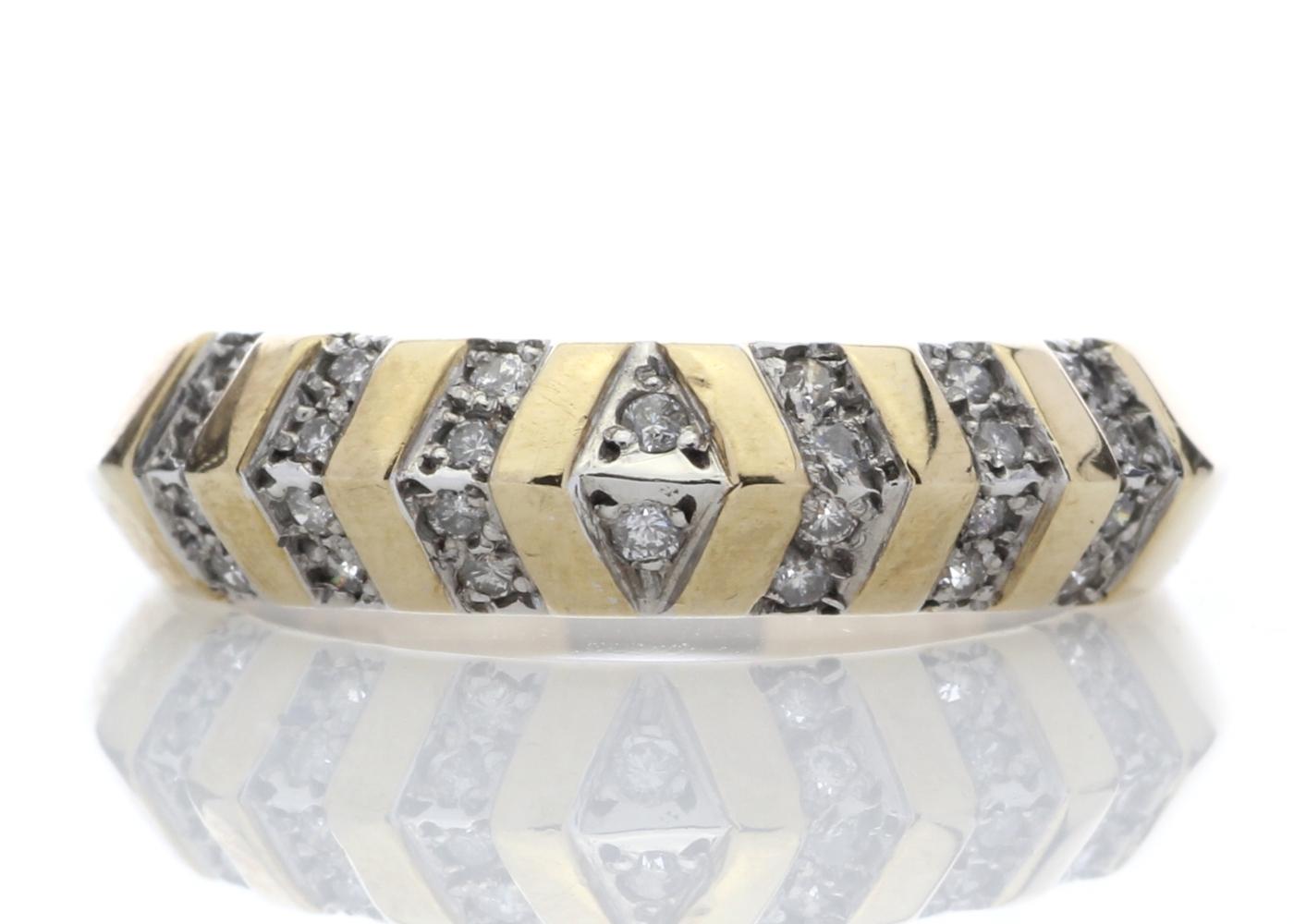 Lot 38 - 9ct Half Eternity Fancy Diamond Ring 0.21 Carats