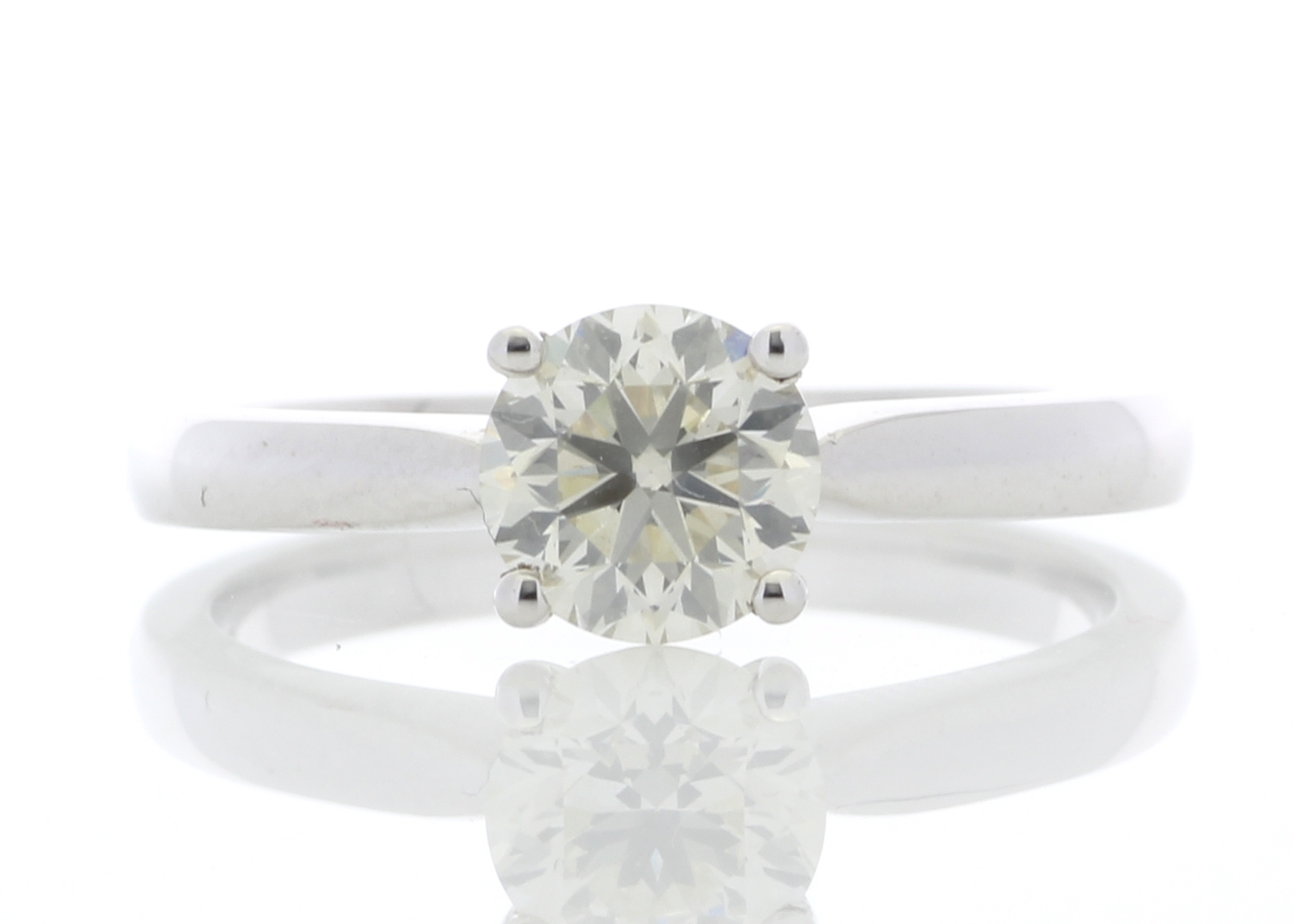 Lot 8 - 18ct White Gold Solitaire Diamond Ring 0.90 Carats