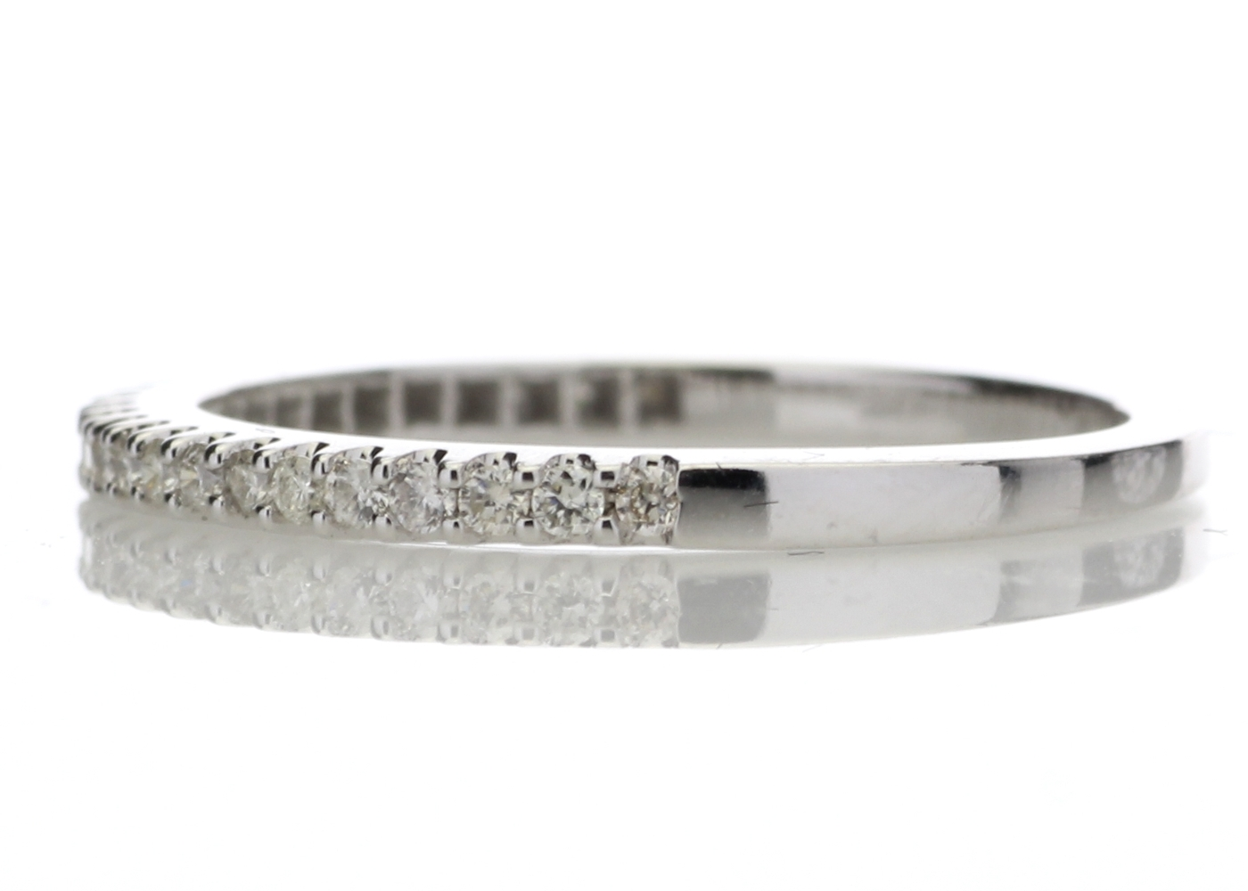 Lot 54 - 9ct White Gold Diamond Half Eternity Ring 0.25 Carats