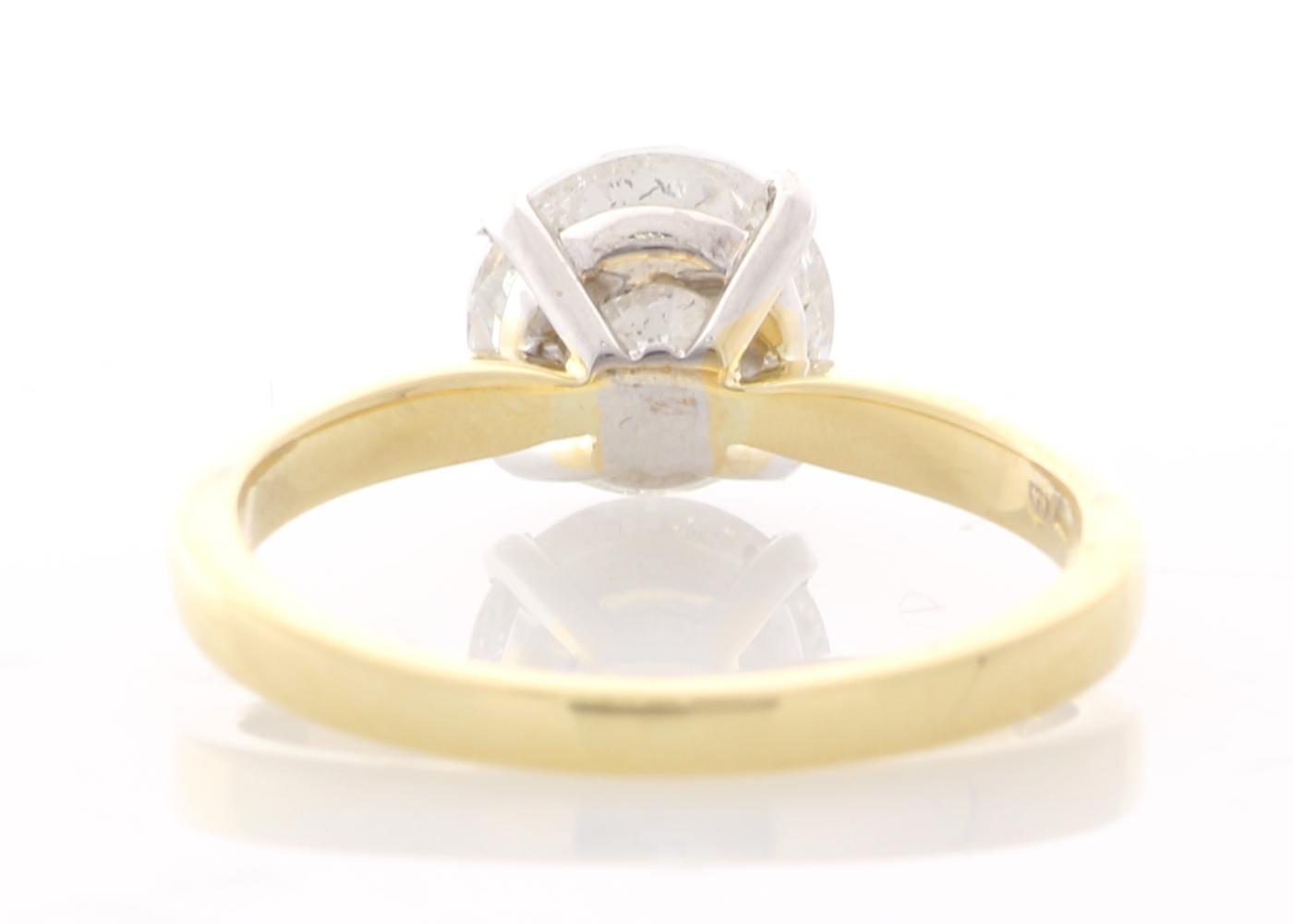 Lot 1 - 18ct Yellow Gold Single Stone Prong Set Diamond Ring 2.00 Carats
