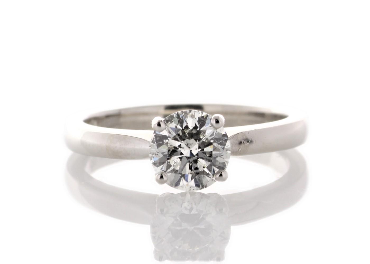 Lot 35 - Platinum Single Stone Claw Set Diamond Ring 1.07 Carats
