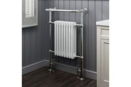 PALLET TO CONTAIN 6 X NEW & BOXED 952x659mm Large Traditional White Premium Towel Rail Radiator...