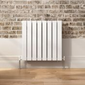 PALLET TO CONTAIN X 6 NEW BOXED 600x600mm Gloss White Double Flat Panel Horizontal Radiator - P...