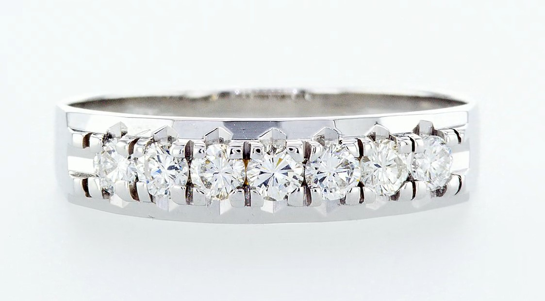 Lot 13 - 14 kt. White gold - Ring Diamond-0.49CTW