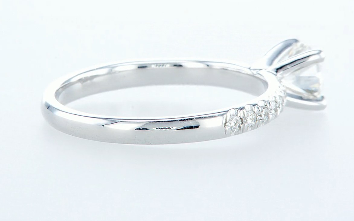 Lot 57 - 14 kt. White gold - Ring - 0.68 ct Diamond - Diamonds