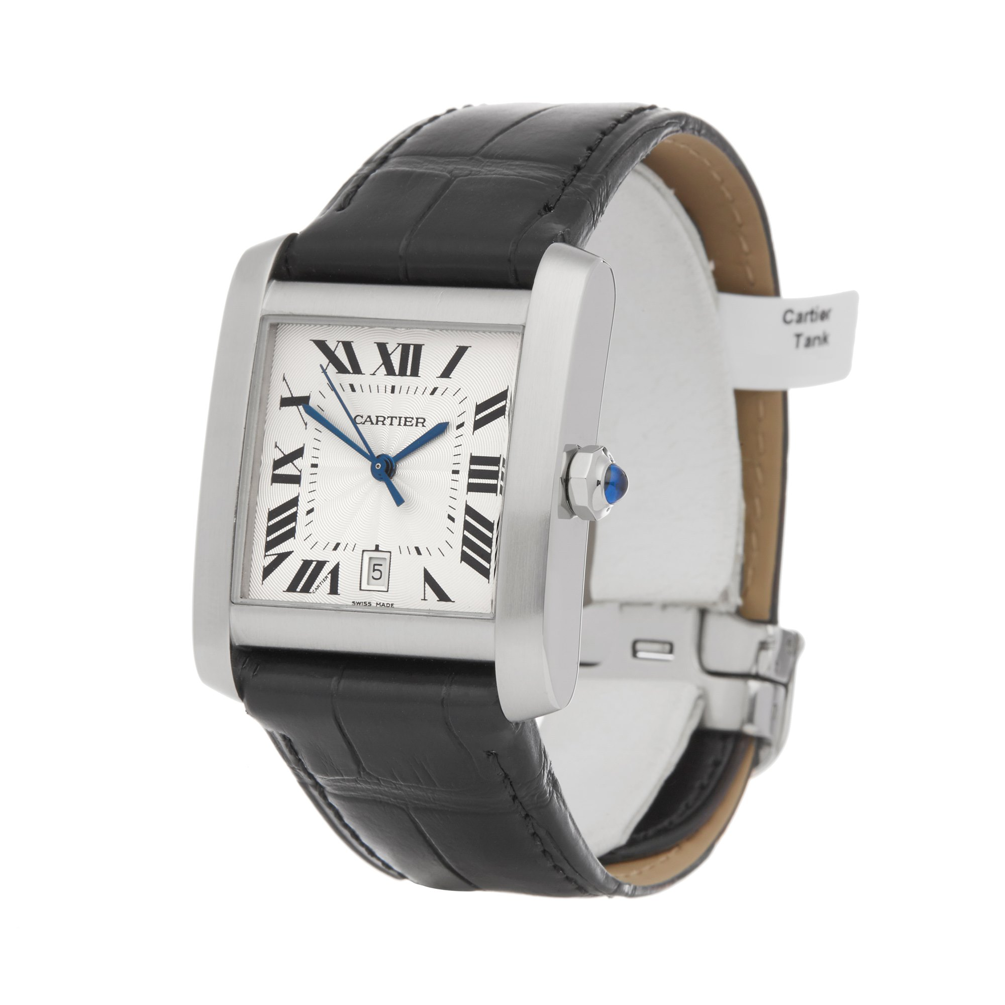 Lot 9 - Cartier Tank Francaise 2564 or W5101755 Men Stainless Steel Watch