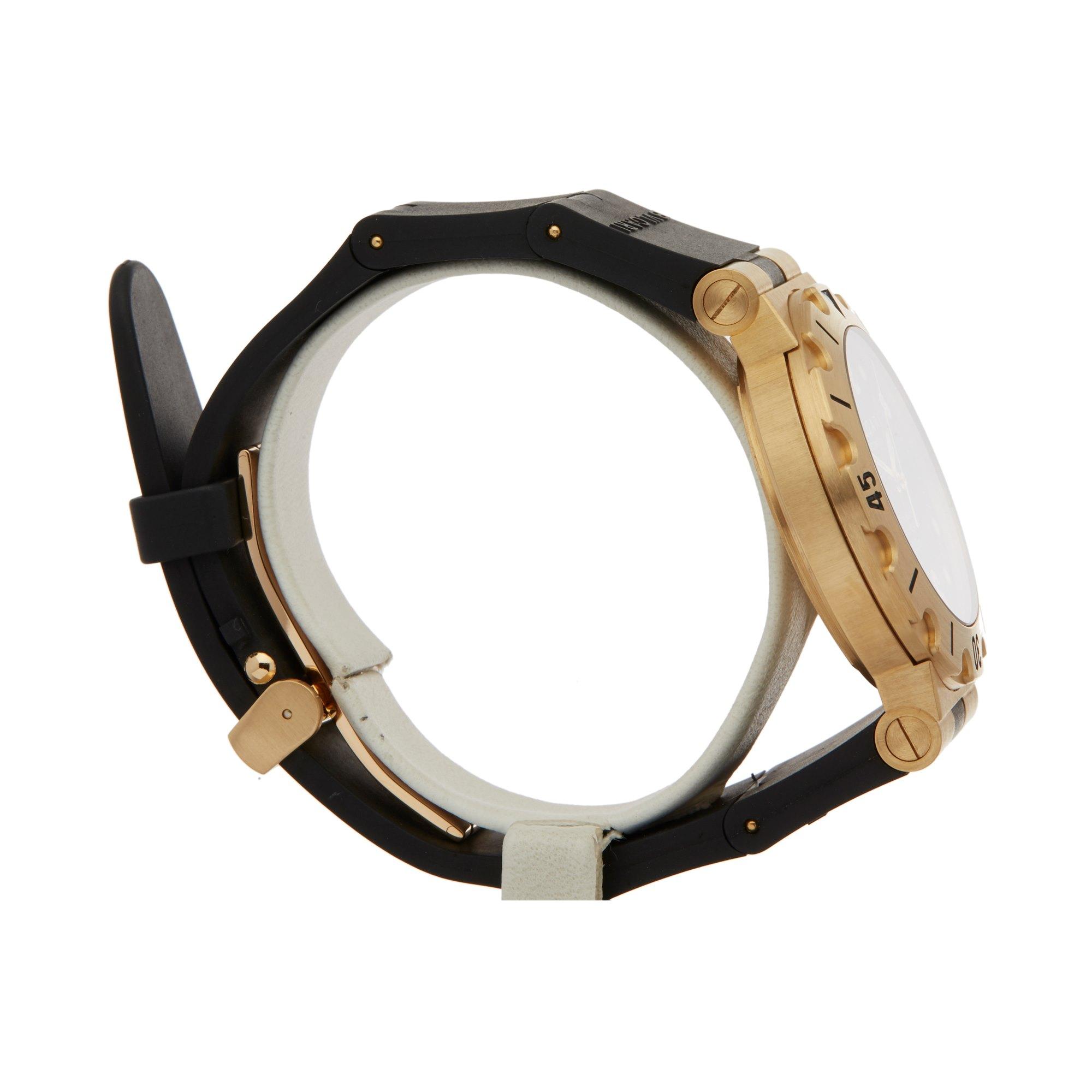 Lot 13 - Bulgari Diagono SD 38 G Unisex Yellow Gold Watch
