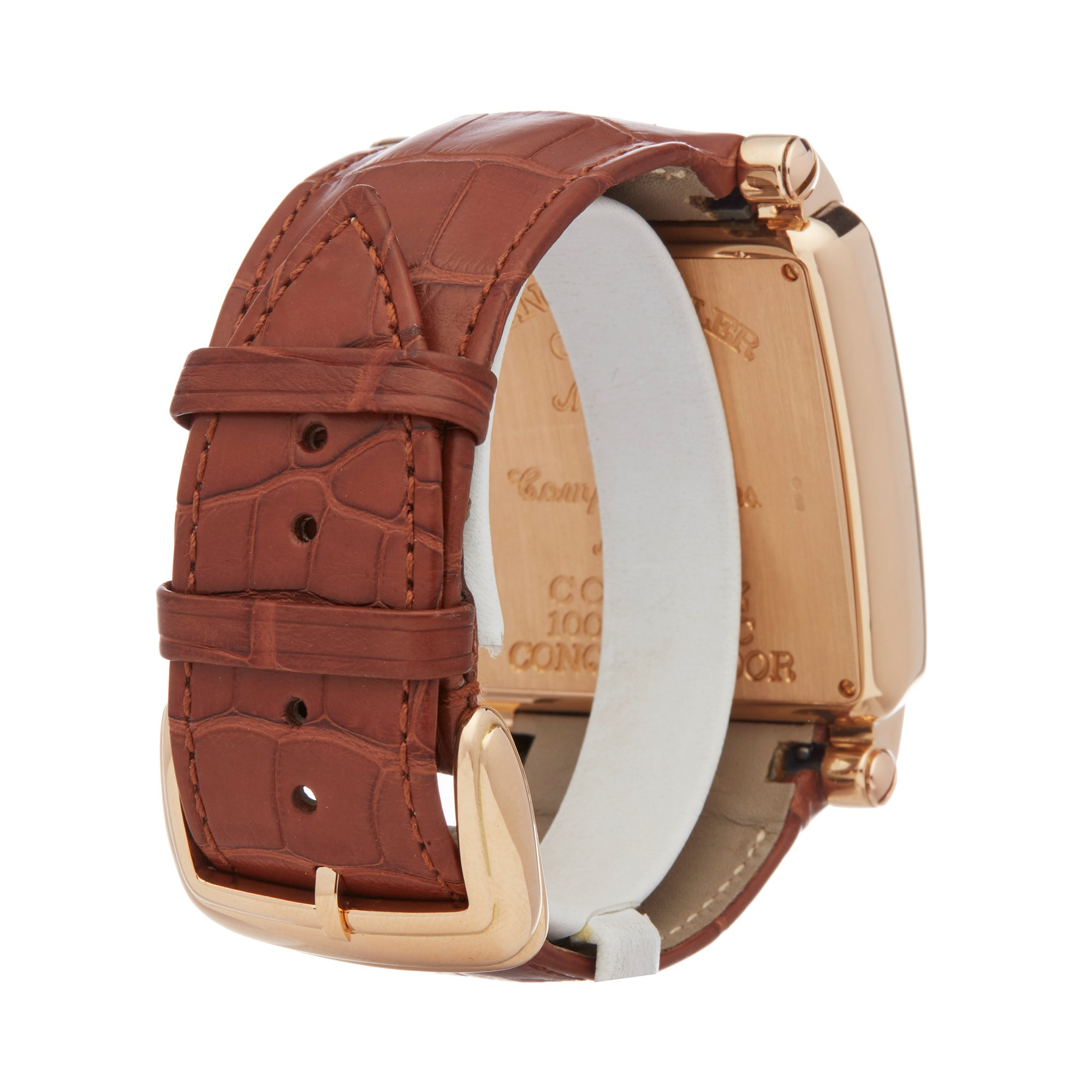 Lot 17 - Franck Muller King Conquistador Cortez 10000K Men Rose Gold Watch