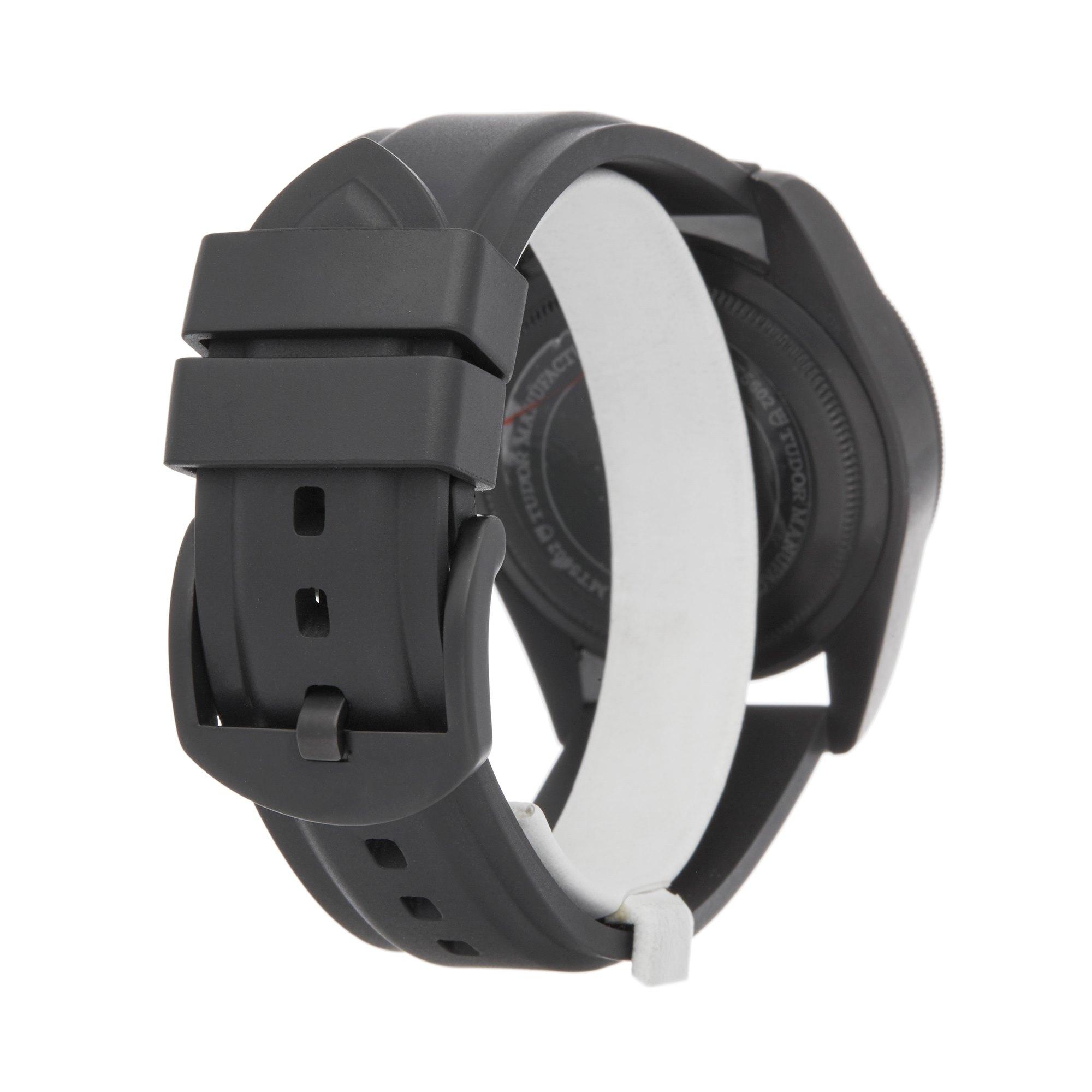 Lot 15 - Tudor Black Bay Heritage 79230DK Men DLC Coated Stainless Steel Watch