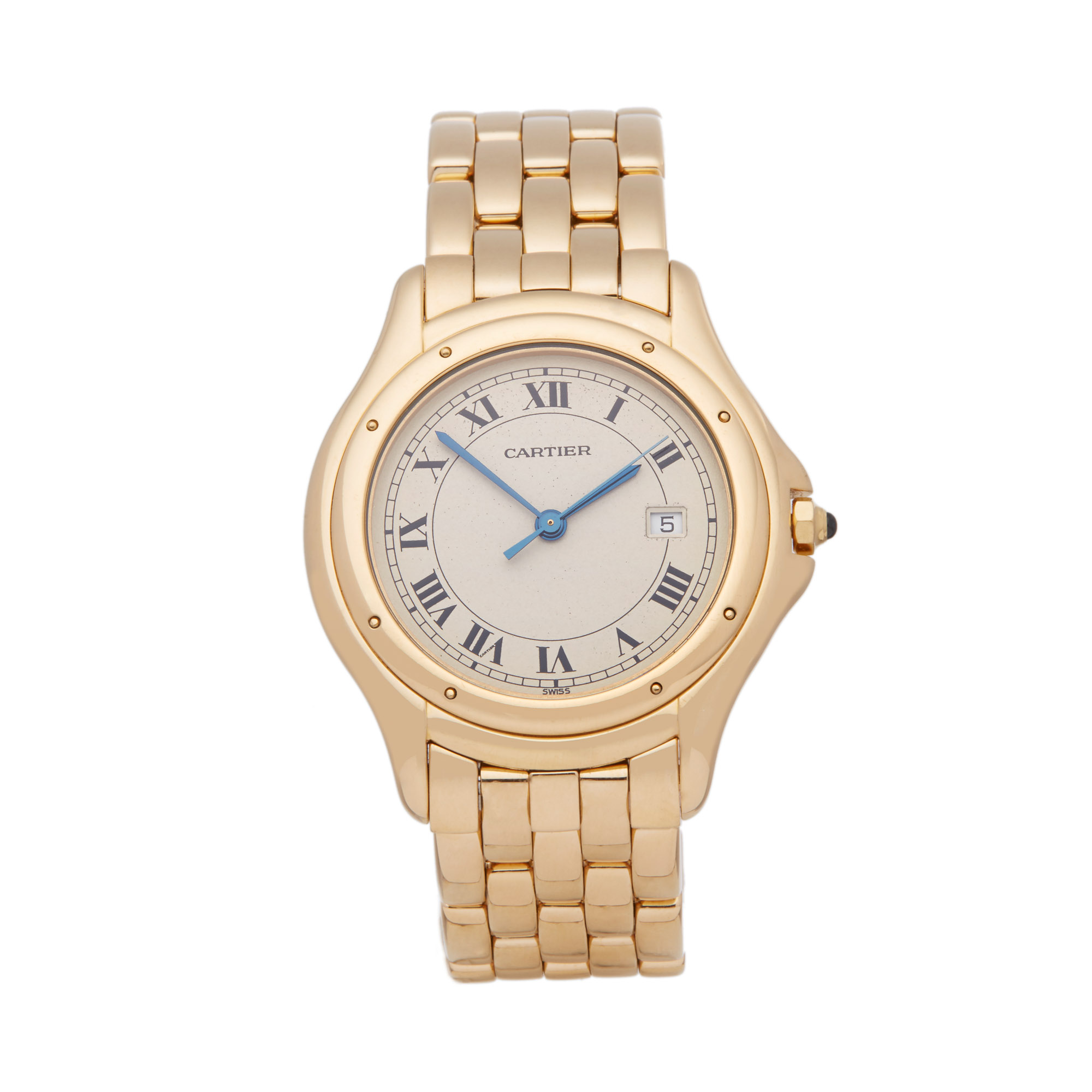 Lot 8 - Cartier Panthère Cougar 116000R Unisex Yellow Gold Watch
