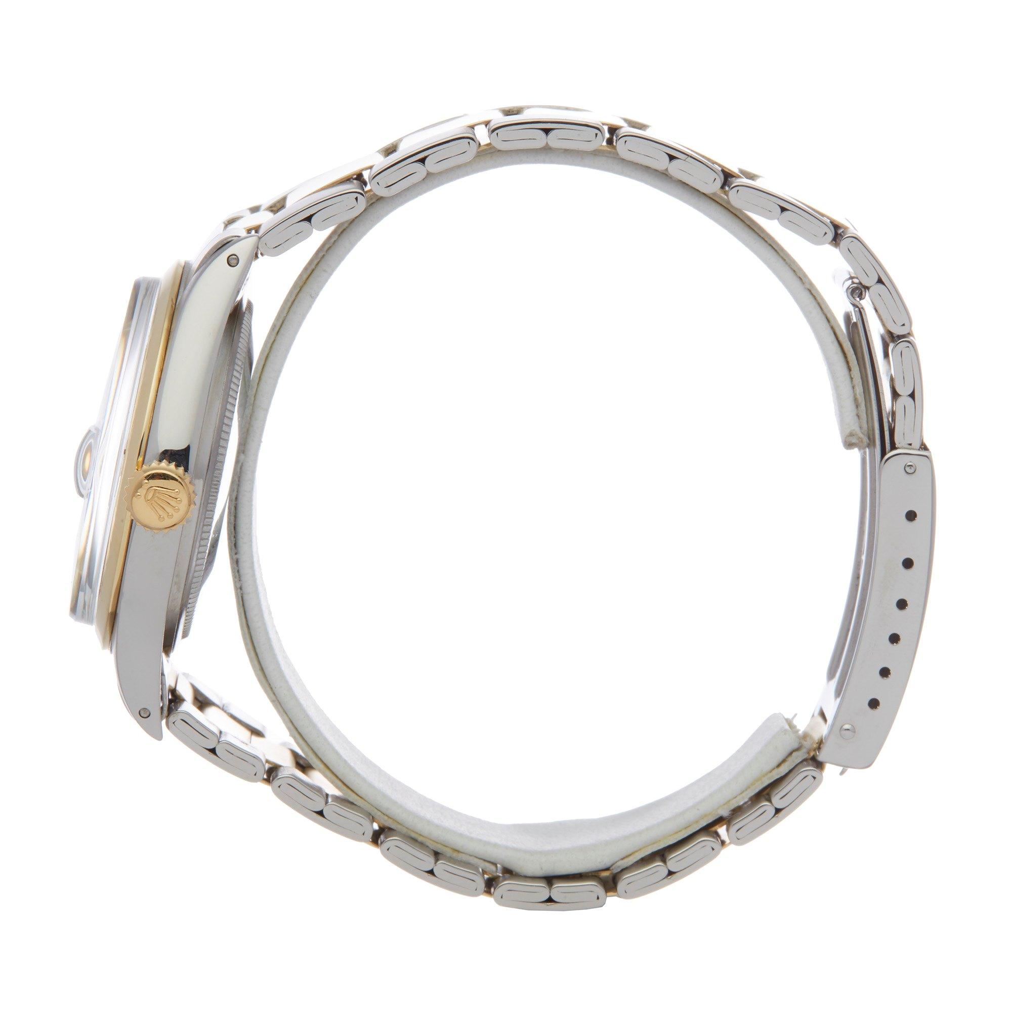 Lot 20 - Rolex Datejust 36 1600 Men Stainless Steel & Yellow Gold Watch