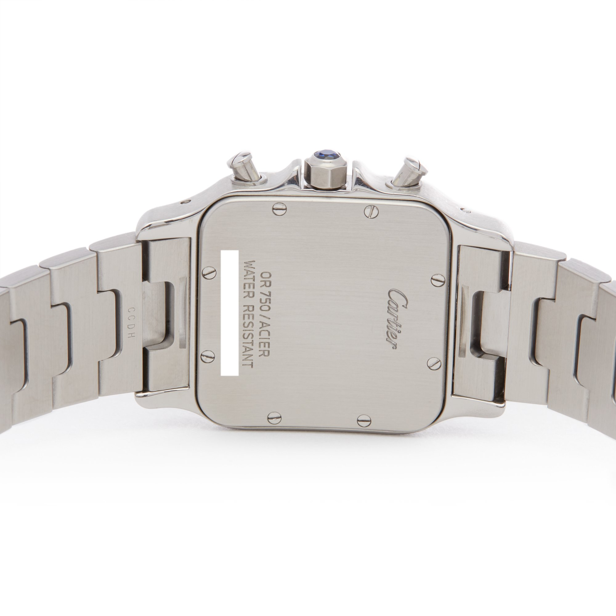 Lot 12 - Cartier Santos Galbee 2425 or W20042C403 Unisex Stainless Steel & Yellow Gold Chronograph Watch
