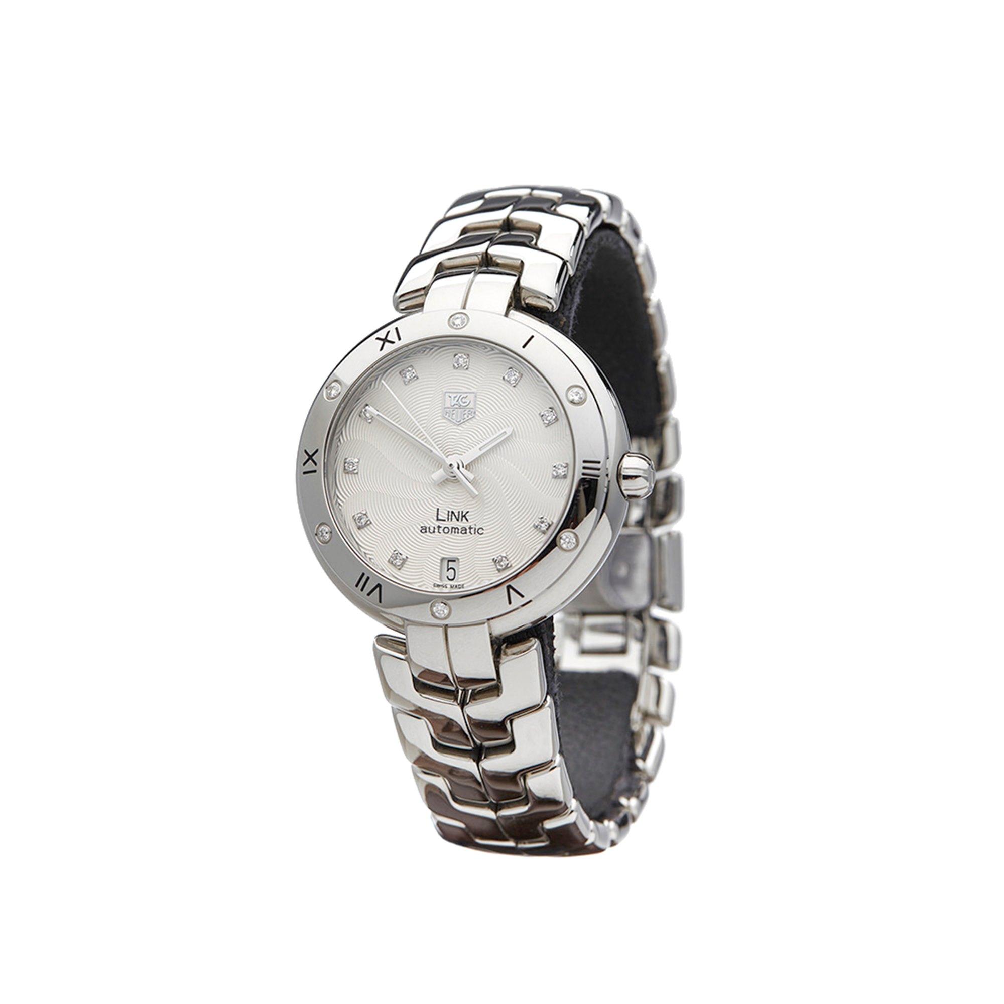 Lot 22 - Tag Heuer Link WAT2312.BA095 Ladies Stainless Steel Diamond Watch