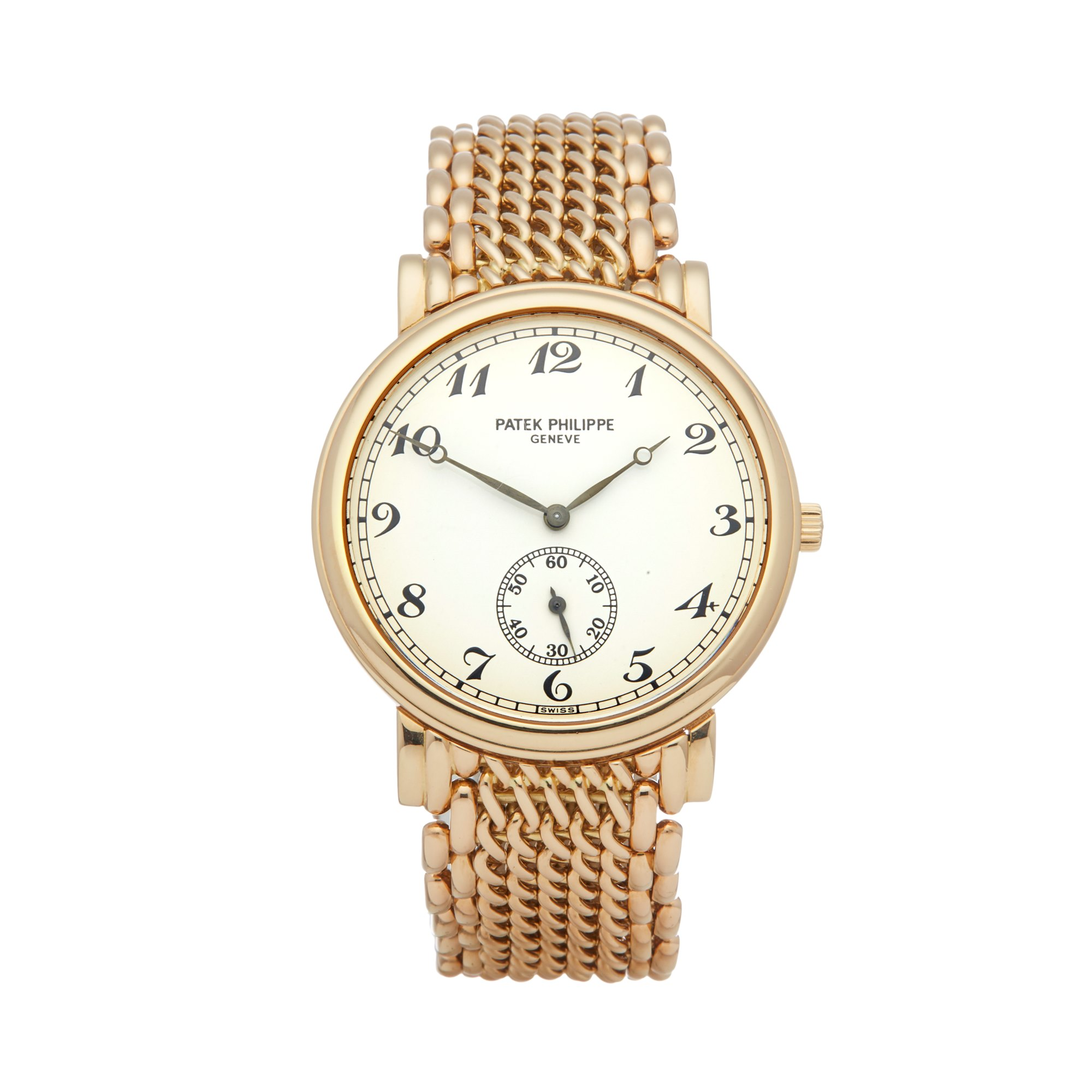 Lot 14 - Patek Philippe Calatrava 5502/1 Men Yellow Gold Watch