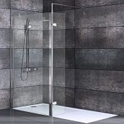NEW (NS22) 900 + 300mm - 8mm - Premium Framless Wetroom and Rotatable Panel . RRP £749.99. 8...
