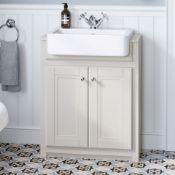 NEW & BOXED 667mm Cambridge Clotted Cream FloorStanding Sink Vanity Unit. RRP £749.99.Comes...