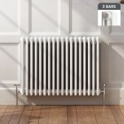 (Q182) NEW 600x812mm White Triple Panel Horizontal Colosseum Radiator. RRP £409.99.For an ele...