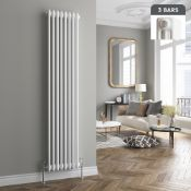 Brand New 1800x380mm White Triple Panel Vertical Colosseum Radiator. RC509. RRP £451.99. Made from l