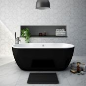 NEW (T1) 1655x750mm Harlesden Black Freestanding Bath. RRP £2,999.If you want to make a state...