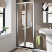 NEW & BOXED Twyfords 760mm - 8mm - Premium EasyClean Bifold Shower Door. RRP £379.99.Durabilit...