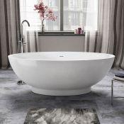 NEW 1800mmx820mm Alexandra Freestanding Bath - Large RRP £3,374.99. BR272. Visually simplistic...