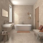 NEW 9 Square Meters of Michigan Noce Matte Wall and Floor Tiles. 440x440mm per tile, 8mm thick...