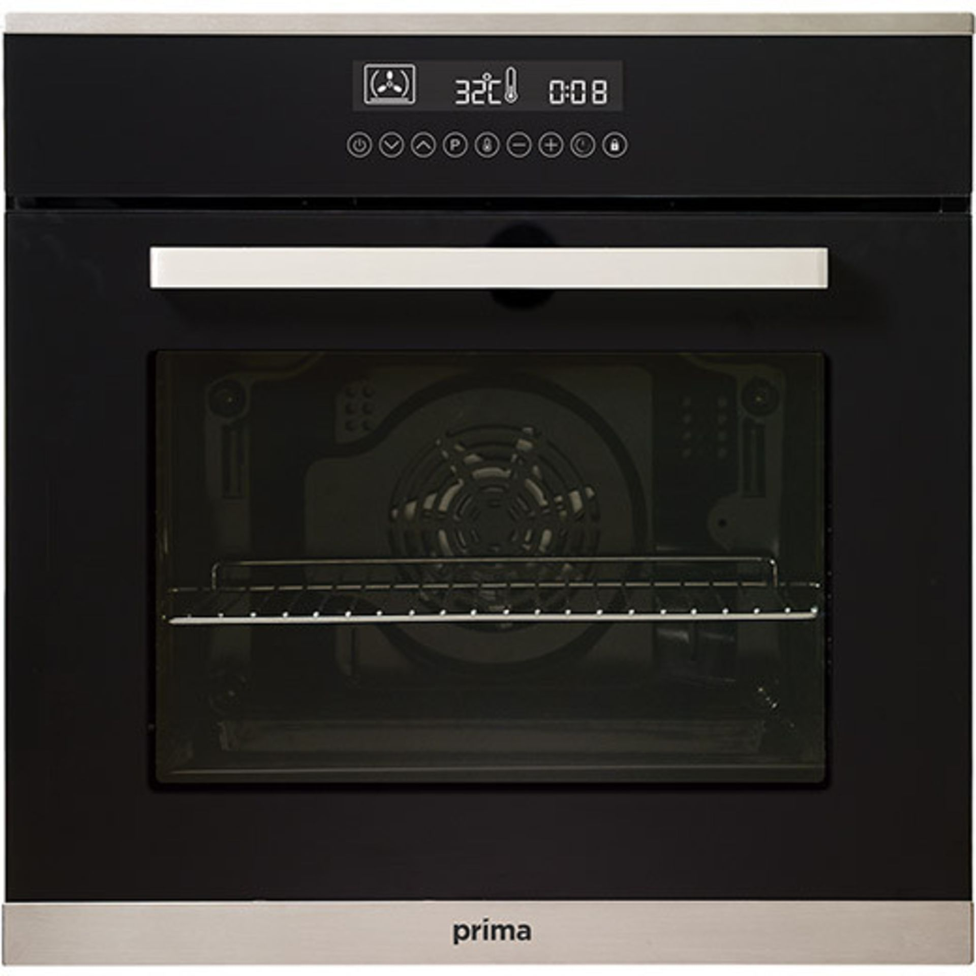 (KA43) PRIMA+ BUILT-IN SINGLE ELECTRIC OVEN - PRSO108 RRP £366.35 (SLIGHT DINT TO BACK) 76 L...