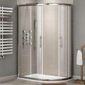 NEW (MF30) 1000x800mm - 8mm - Designer easy clean offset quadrant shower enclosure - reversible...