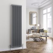 NEW & BOXED 1800x468mm Earl Grey Triple Panel Vertical Colosseum Traditional Radiator. RCG517. ...