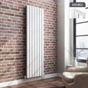 NEW & BOXED 1800x532mm Gloss White Double Flat Panel Vertical Radiator. RRP £499.99.Designer ...