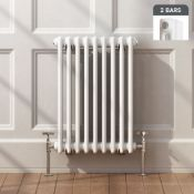 NEW & BOXED 600x420mm White Double Panel Horizontal Colosseum Traditional Radiator. RRP £199....