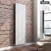 NEW & BOXED 1800x532mm Gloss White Double Flat Panel Vertical Radiator. RRP £499.99.Designe...