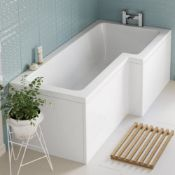 NEW (AA51) 1700x850mm Right Hand L-Shaped Bath. Constructed from high quality acrylic Length:...
