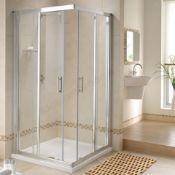 NEW Twyford GEO6 900x900mm Sliding (2 Door) Corner Entry Enclosure; 6MM Glass. RRP £739.99.G6...