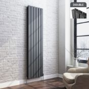 New 1800x532mm Anthracite Double Flat Panel Vertical Radiator.Rrp £499.99 Each.RC264.Made With...