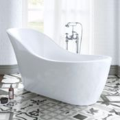 NEW & BOXED 1730x720MM Eve Freestanding Bath. RRP £2,499.BR264.This gloss white free-standing...