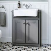 NEW & BOXED 667mm Midnight Grey FloorStanding Sink Vanity Unit. RRP £749.99.Comes complete wi...