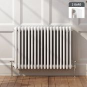 NEW (D125) 600x812mm White Double Panel Horizontal Colosseum Radiator. RRP £409.99.For an ele...