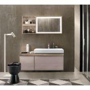 NEW & BOXED Twyfords Keramag Keramag Citterio 1184mm Natural beige/Oak Vanity Unit with Shelves...