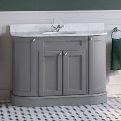 NEW & BOXED 1200mm York Earl Grey Marble Top Vanity Unit - 1200mm. HCF06. Integrated...