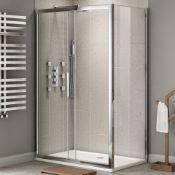 NEW Twyfords 1700x900mm - Premium EasyClean Sliding Door Shower Enclosure. RRP £549.99. ES405...