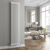 NEW (D123) 2000x398mm White Four Panel Vertical Colosseum Traditional Radiator. RRP £328.99....