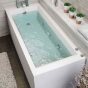 NEW 1700x700x545mm Whirlpool Jacuzzi Single Ended Bath - 6 Jets. RRP £1,299.99.Spa Experience...