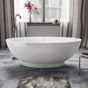 NEW 1800mmx820mm Alexandra Freestanding Bath - Large RRP £2,999.99. BR272. Visually simplistic...