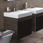 NEW Keramag Citterio 600mm Dark Grey/Brown Vanity Unit. 835161+3d4711wh. Comes complete with ba...