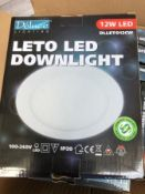 5x DLLET012CW 12W LED DOWNLIGHTERS WITH DRIVER