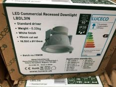5X RECESSED DOWNLIGHTERS LED INC DRIVER WHITE FINISH