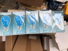 10X CROMPTON TRANSLUCENT BLUE ES LAMPS 15W IDEAL FOR OUTDOORS